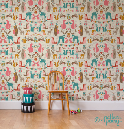 pattern_penny_forest_hideaway_celebration_wallpaper-02