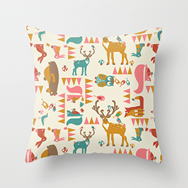 pattern_penny_forest_hideaway_multi_rose_society6_throw cushion_photo_small