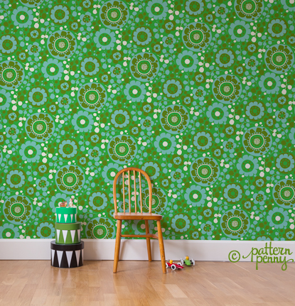 pattern_penny_retro_circle_floral_olive_wallpaper-02