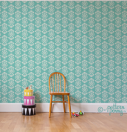 pattern_penny_flowerspot_folklore_AQUA_SMALL_wallpaper
