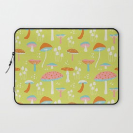 pattern_penny_flora_mushroom_society6_laptopsleeve