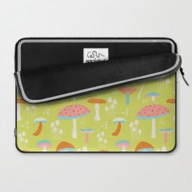 pattern_penny_flora_mushroom_society6_laptopsleeve_open